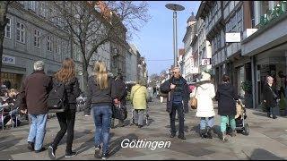 Fußgängerzone, stadtbummel durch die altstadt göttingen am 7.3.2014hintergrundmusik gemafrei von : chances silent, partner, you tub audio library