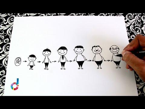 Cómo Dibujar Las Etapas De La Vida Del Hombre How To Draw The Stages Of A Mans Life