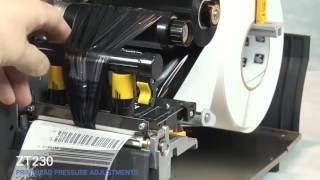 Як налаштовувати друкувальну голівку струменевого принтера етикеток Zebra ZT230