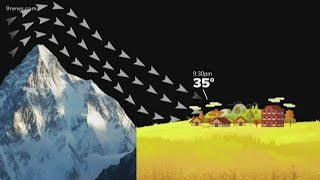 How 'Chinook wind' warms up weather in a hurry