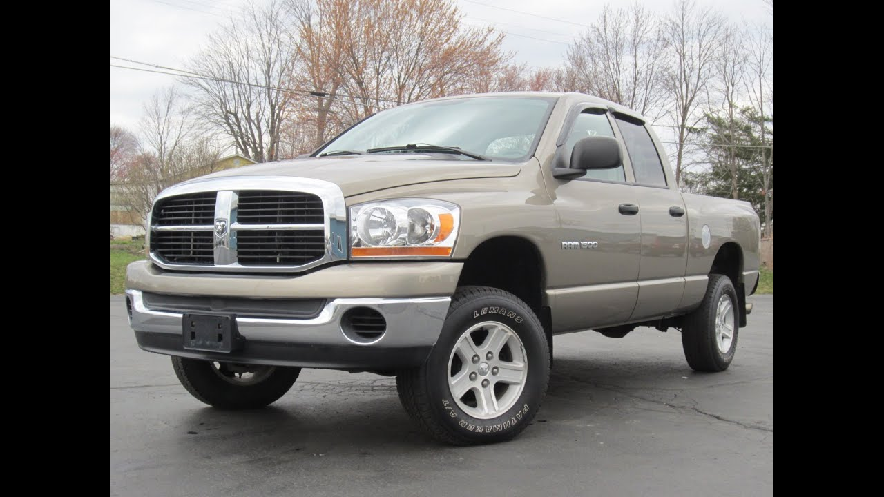 2006 Dodge Ram 1500 SLT 4x4 V8 SOLD  YouTube