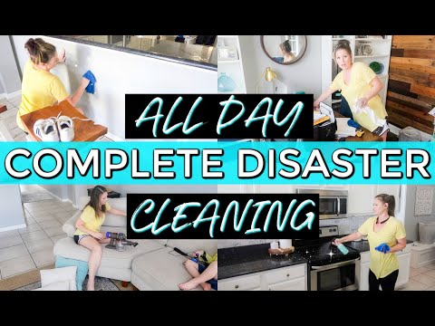 ⭐COMPLETE DISASTER CLEANING MOTIVATION || ALL DAY CLEAN WITH ME 2019 || DECORATE WITH ME