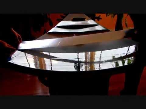 Solar Parabolic 8' diameter (240cm)  mirror film installation Free Solar Energy