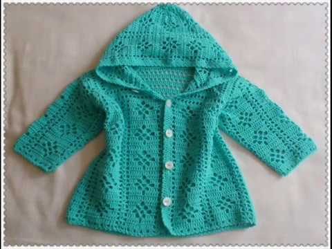 Easy To Crochet Baby Cardigan Crochet Baby Sweater Youtube