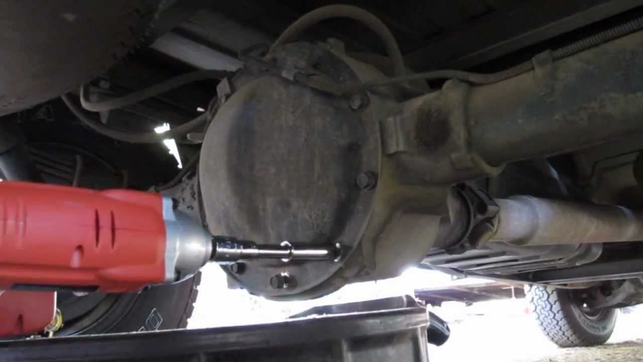 2008 gmc sierra rear differential fluid change