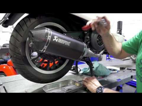 Installing Akropovic Exhaust on Vespa Sprint/Primavera