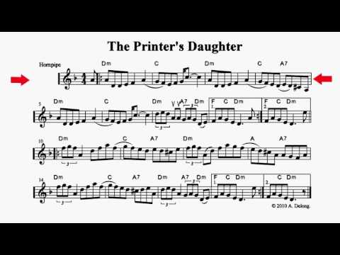 The Printer's Daughter - playalong fiddle sheet music
