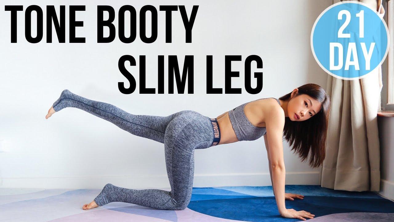 20 MIN SLIM LEG & TONE BOOTY (+ Get Rid of Cellulite) | 21-Day Leg Transform Program