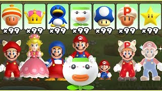 New Super Mario Bros U Deluxe - All Power-Ups