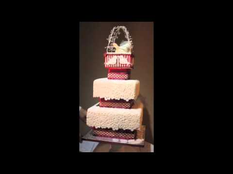 Love-Bird & Lace Three Tier Wedding Cake By: Sue Taylor Cakes