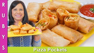 Iftari Idea! Fast & Easy Pizza Pockets Ramadan 2021 Recipe in Urdu Hindi -RKK