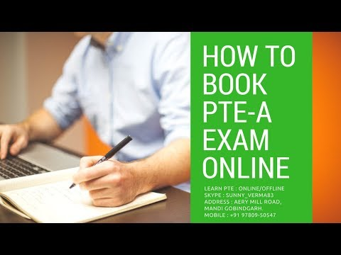 कैसे ऑनलाइन बुक करें PTE-A Exam | How to Book PTE-A Exam Online in Hindi