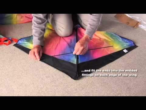How To Assemble Agreatlife Rainbow Kite For Kids Old Version Youtube