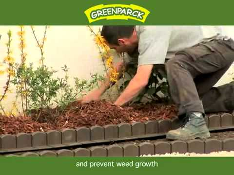 Bordure plastique de jardin clipsable greenparck youtube for Bordure en bois de jardin