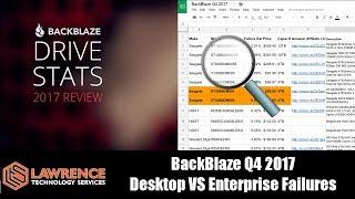 Lets Take A Deeper Look: BackBlaze Q4 2017 Desktop VS Enterprise Hard Drive Failures