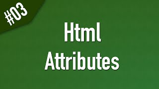 Learn Html In Arabic #03 - Attributes