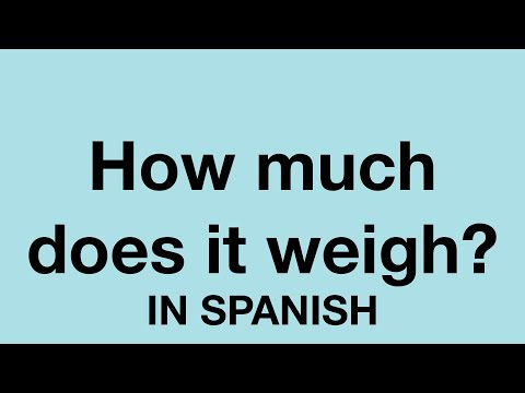 How to say weight training in spanish