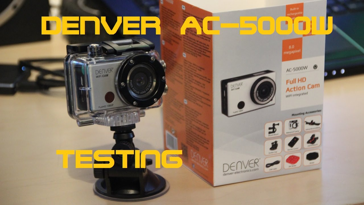 unboxing and testing denver ac 5000w actioncam youtube. Black Bedroom Furniture Sets. Home Design Ideas