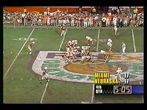 Huskers 1995 Orange Bowl