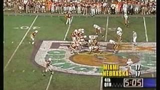 Huskers 1995 Orange Bowl
