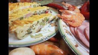 Пирог с креветками! Супер-деликатес для всей семьи!