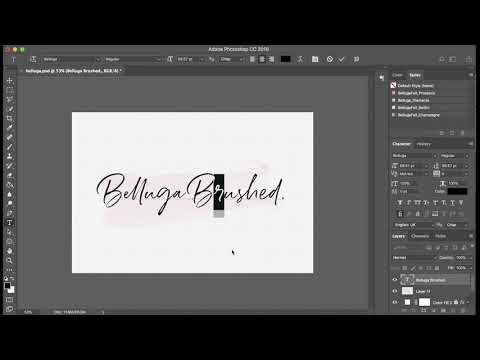 Using Photoshop CC To Access Opentype Ligatures And Alternates