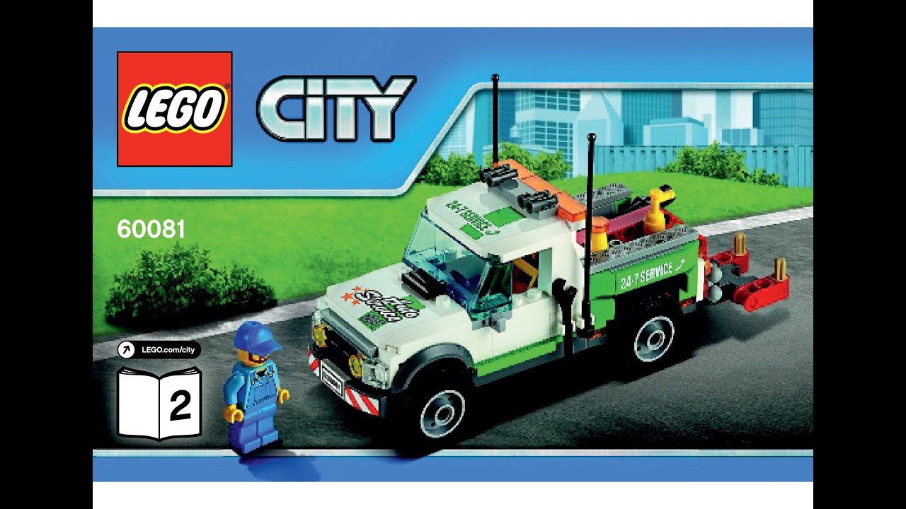 Lego 60081 Pickup Tow Truck Instructions Lego City 2015 Traffic