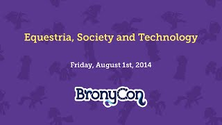 Equestria, Society and Technology