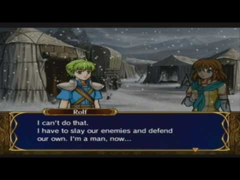 fire emblem path of radiance mist and rolf support conversations