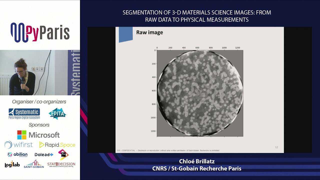 Image from Segmentation of 3-D materials science images : from raw data to physical measurements