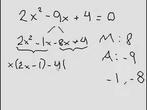Solving Quadratic Equation (Factoring), when 'a' is not