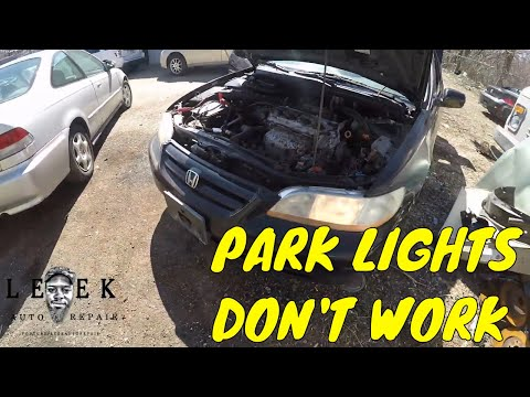 Parking Lights Not Working | 2002 Honda Accord