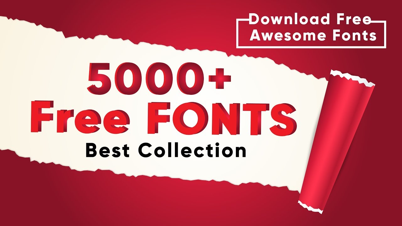 5000+ Fonts FREE Download | How to Install Fonts Tutorial
