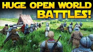 HUGE OPEN WORLD BATTLES!  Mount and Blade 2 Bannerlord First Look With Gameplay
