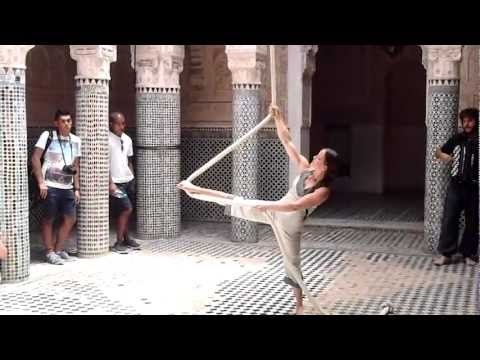 Rope performance in a medersa, Morocco