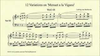 Beethoven, 12 Variations on Menuet a la Vigano, Variation III, WoO 68