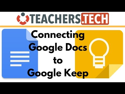 Add Google Keep Notes to Google Docs