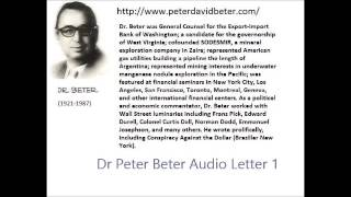 Dr. Peter Beter - Audio Letter 01 - Fort Knox; President Ford; Nelson Rockfeller - June 21, 1975