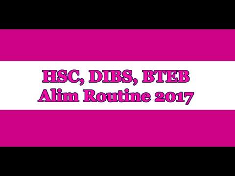HSC, DIBS, BTEB, Alim Routine 2017 pdf Download