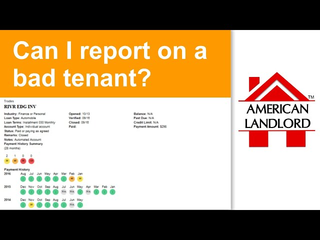 Can I Report Bad Tenants on Credit Reports? | American Landlord