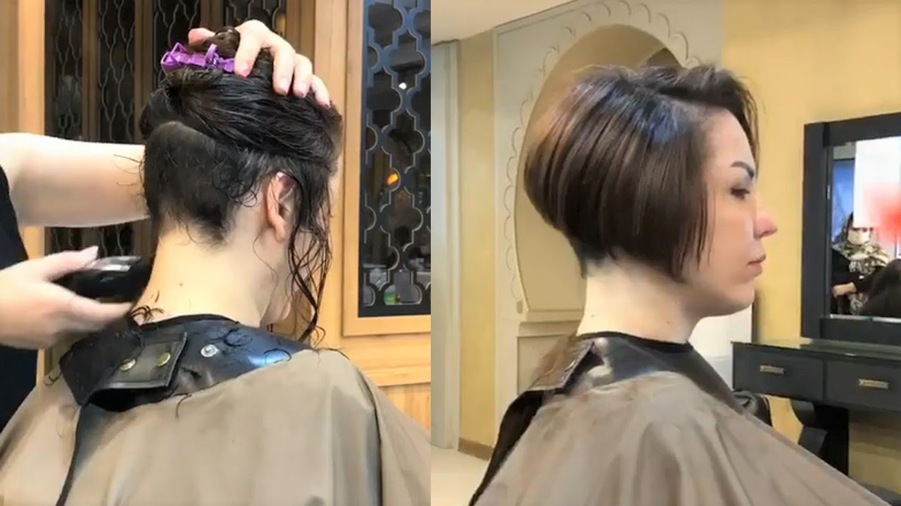most short bob with nape undercut | haircuts for women | Bob haircut with nape | hair makeover