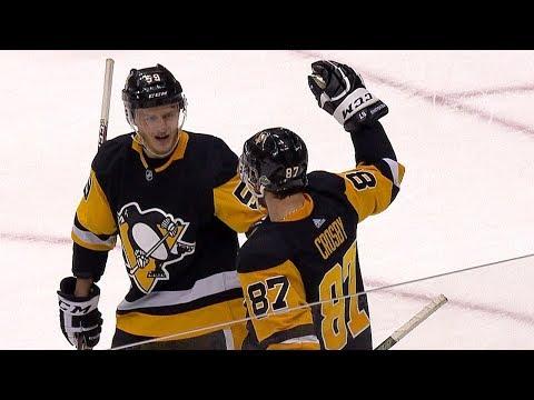 Guentzel sets up Sid with slick toe-drag