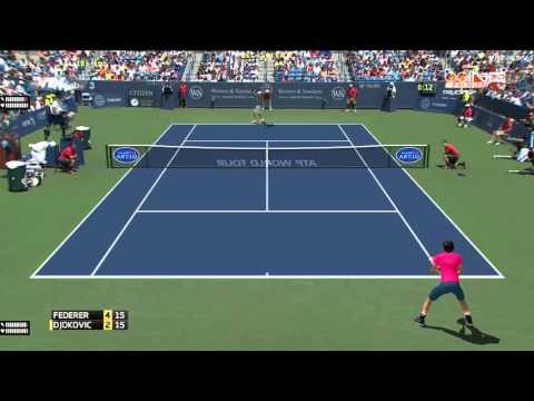 Tennis Elbow 2013 - Federer vs Djokovic - Western & Southern Open
