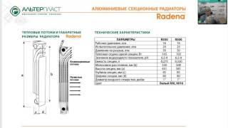 видео Алюминиевые радиаторы Warma