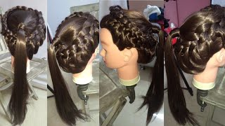 Beautiful hairstyle for college girl // easy braided hairstyle // Daily hairstyle