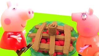 Свинка Пеппа онлайн - Про Пеппу и пирог из пластилина