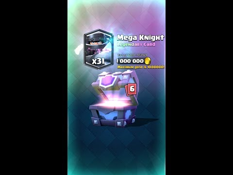 CLASH ROYALE MEGA KNIGHT IN SUPER MAGICAL CHEST