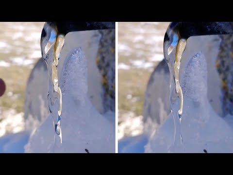 Moving Water Appears To Be Frozen