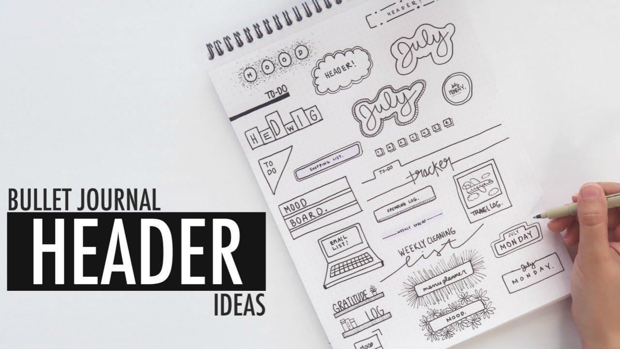 20 BULLET JOURNAL HEADER IDEAS   MINIMALIST STYLE