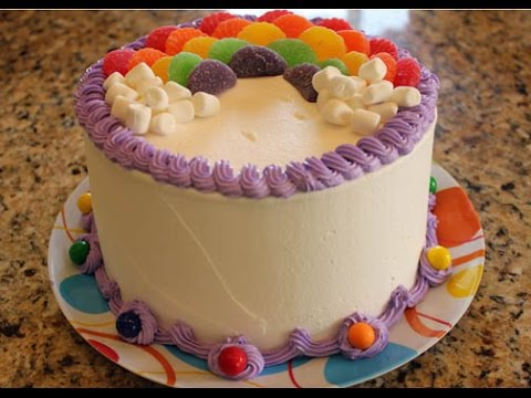 Decorate A Rainbow Birthday Cake In Minutes
